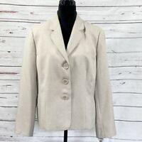 Kasper Women's Blazer Suit Jacket Country Club Sand Size 18 NWT