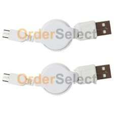2 NEW USB Retract Micro Charger Cable for Phone Samsung Galaxy S2 S3 S4 S5 S6 S7