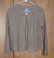 Women's CLASSIC ELEMENT 1 Button Open Cardigan Sweater bell sleeves S