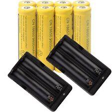 32pcs18650 3.7V 9800mAh Yellow Li-ion Rechargeable Battery + 2 18650 ChargerEO