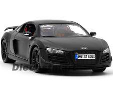 MAISTO 1:18 2008 AUDI R8 GT DIECAST 2011 MATTE BLACK DIECAST MODEL CAR