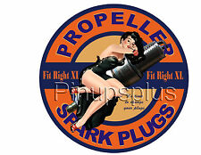 Retro Style Spark Plug Pinup Girl Waterslide Decal S883 by pinupsplus
