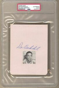 Don Barksdale 1st Black NBA All-Star 1948 Olympic Signed AUTO album page PSA/DNA