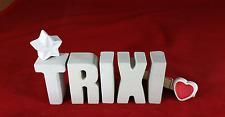 Beton, Steinguss Buchstaben 3D Deko Namen TRIXI als Geschenk verpackt!