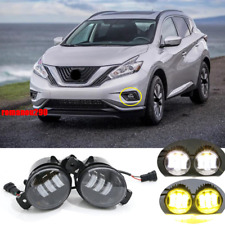 For Nissan Murano 2015-2018 LED White & Yellow Front Bumper Fog Lamp Assembly *2