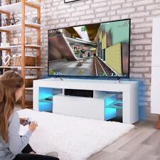 TV Schrank Lowboard Fernsehtisch Unterschrank mit LED Fernsehschrank Hochglanz