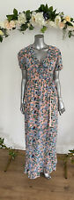 Influence Maxi Dress Wrap Pale Pink Floral Lined Size 8 New EL29 Ruffle Detail