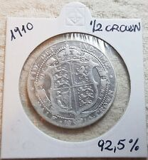 1910 King Edward VII Silver Half Crown Coin