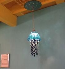 Blown Glass Chandelier - Glass Lamp - Jellyfish Light - Art Glass Lighting