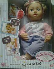baby annabell puppe sofia so soft weich lange Haare große Schwester sister Neu