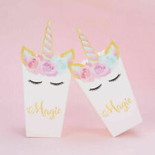 20×Unicorn Popcorn Paper Box Treat Boxes Bags Candy Container Movie Favour Party
