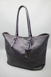 Longchamp Lm Cuir Purple leather Monogram Shoulder Hand bag Size Large