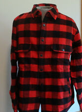 Men's Woolrich Jacket Oxbow Bend NWT Cotton Flannel Red/Black $129 SIze M L & XL