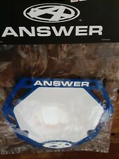 New listing AnswerBMX 3D Number Plate, Mini - Blue