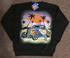 "Vintage Looney Tunes Tasmanian Devil ""TAZ"" Large Sweatshirt 1997 Hot Rod Car"