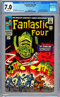 FANTASTIC FOUR #49 CGC 7.0 1ST FULL SILVER SURFER GALACTUS APPS LEE & KIRBY 1966