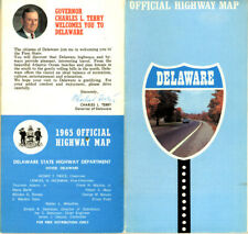 Vintage 1965 Delaware Official Road Map from DE State Highway Department