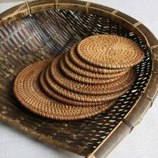 Handmade Rattan Cup Coasters Set Pot Pad Table Mat Board Home Decoration Bamboo