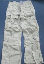 Girl Size 7 Youth Cargo Pants Solid Tan Pockets Limited Too