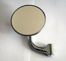 CHROME CLIP ON 1/4 LIGHT MIRROR ROUND 4 INCH, 100mm  NEW