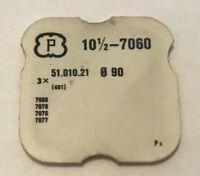 NEUF PART 401 FOR MOUVEMENT PESEUX CAL 7060, 7070,.. @ LOT DE 3 TIGES REMONTOIRS