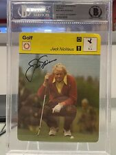 JACK NICKLAUS Golf Trading Card 1977 Sportscaster Italy BGS Authenticated AUTO