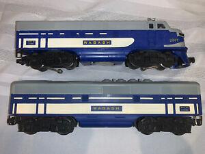 Lionel Trains 2367 F3 AB Blue Wabash Diesel Locomotive Engine Vintage Postwar