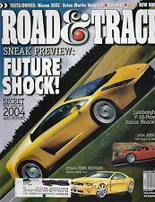 Road & Track Sept 2002 - Nissan 350Z - Aston Martin Vanquish - Saleen S7 - TVR