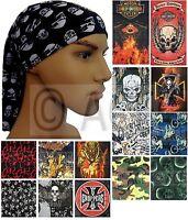 Mens Multifunctional Neck Tube Bandana Headband Scarf Durag in various designs