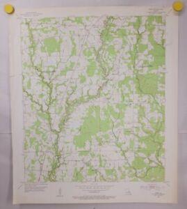 Vintage Fred Quadrangle Louisiana 1954 Geographical Survey Map