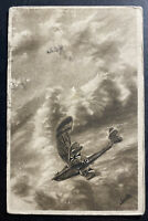 1918 KUK Feldpost Austria Picture Postcard cover To Lwow Poland Fighter Air Plan