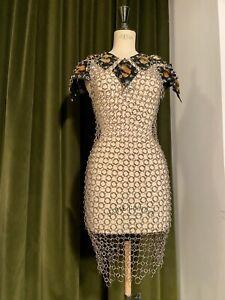 Robe métal Alexis T vintage 80´s Style Paco Rabanne