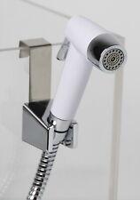 WSP Toilet Spritzer Hand Bidet Dual Spray Adjustable White Handle Chrome Nozzle