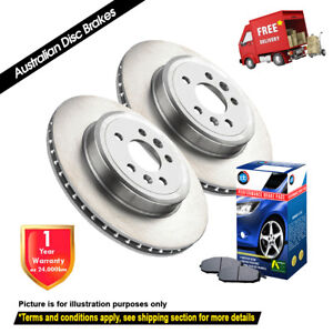For HOLDEN Vectra ZC 3.2L 292mm 2004-2006 REAR Disc Rotors (2) & Brake Pads (1)