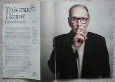 Ennio Morricone – Joseph Fiennes - Observer magazine – 15 May 2016