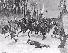 METAL FRIDGE MAGNET Battle Of Washita Cheyenne Native American Indian