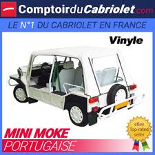 Capote Mini Moke Portugaise cabriolet en Vinyle blanc avec finitions rouges