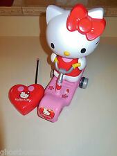 SANRIO HELLO KITTY CHARACTER RC REMOTE CONTROL SCOOTER BIKE VEHICLE SET LOT