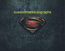 Man Of Steel Superman Logo Double Signed Cavill & Adams Autograph UACC RD 96
