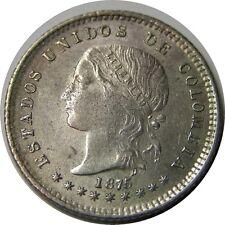 elf Colombia Gran Colombia 10 Centavos 1875  Silver