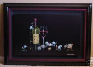 "*Michael Godard-""SEVEN DEADLY ZINS"" Red Wine-Las Vegas-Sins-VINTNER-Art-7*FRAMED"