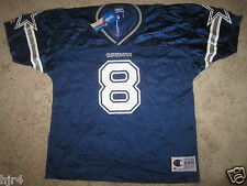 Troy Aikman #8 Dallas Cowboys NFL Champion Jersey Youth XL 18-20 NEW NWT