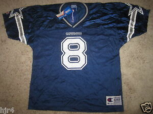 Troy Aikman #8 Dallas Cowboys NFL Champion Jersey Youth XL 18-20 NEW NWT