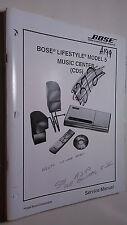 Bose cd5 lifestyle model 5 service manual original repair book stereo 88 pages