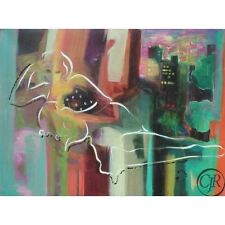 SABZI ** CITY NIGHTS ** GICLEE ON CANVAS