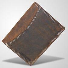 Büffel Leder Geldbörse Portemonnaie Geldbeutel Brieftasche Börse Braun 2