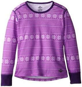 Hot Chilly's children functional shirt Midweight Print, Pink / White, XL