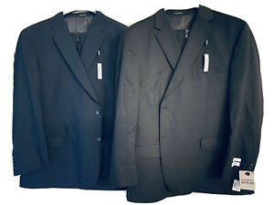 *LOT* *NEW* Pronto Uomo Men's Black/Navy Executive Fit 100% Wool Suits; 54R, 52W