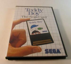 Teddy Boy (Sega Master, 1986) System Fun SMS Card Game w/ Dust Sleeve Nice Shape