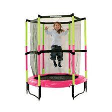 Hudora Trampolin Jump In Ø 140 cm Indoor Sicherheitstrampolin pink